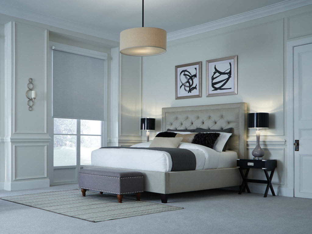 Bedroom with HomeWorks and Palladiom Shades