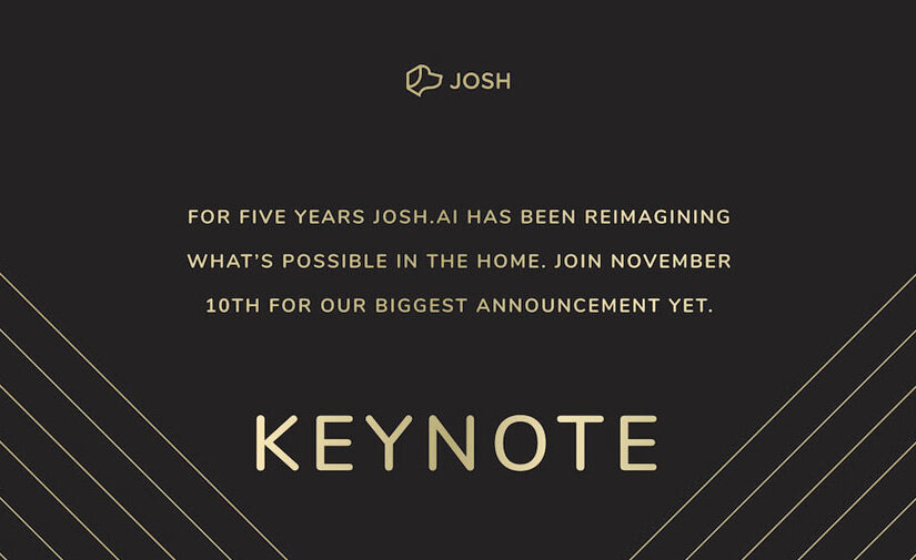 The first ever Josh.ai keynote!